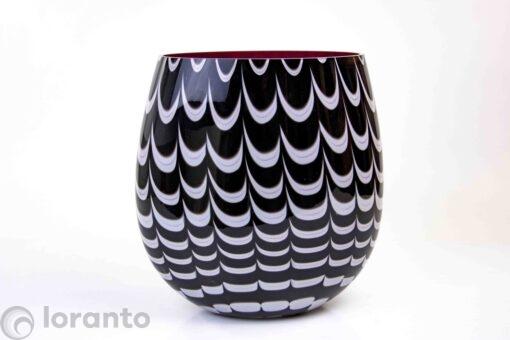 Zebra vaas van glas