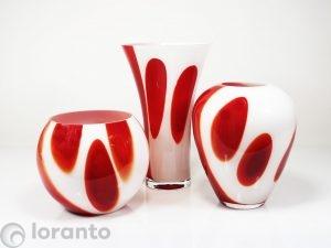 vazen rood wit