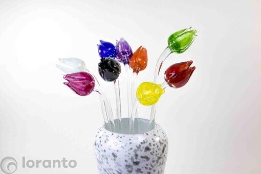 tulpen van glas 1kleur set loranto,