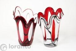 vazen open rood en wit