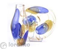 Glazen vaas en schaal laskas