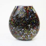 Vaas zwart met kleur plat 13.350.030
