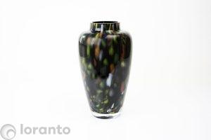 Bloemenvazen zwart met kleur