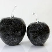 Glazen appels met zilver