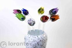 tulpen van glas set multicolor loranto,