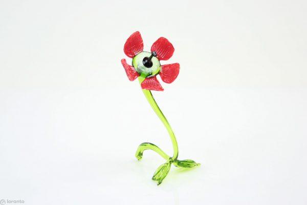 poppy red glass