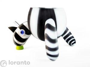glazen zebra