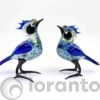 vogel blauw,