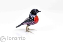 vogel rood zwart roodborst,