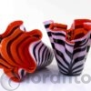 zebra vazen van loranto glas,