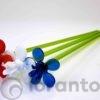 glazen bloemen,